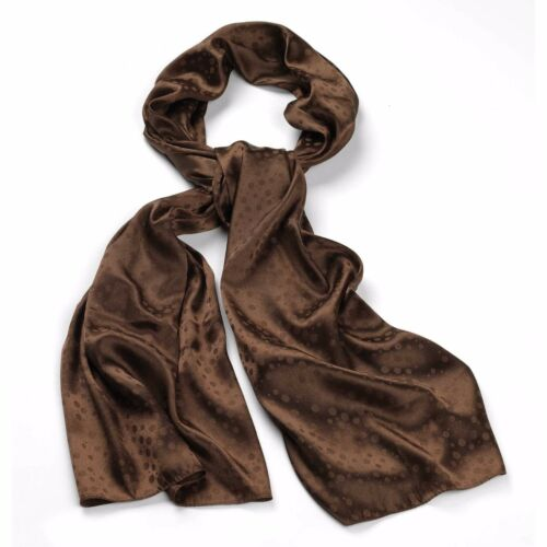 Coloured Spotted Print Silk Feel Fashion Neck Head Scarf 100/% Polyester