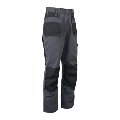 Work Trousers Mens Cargo Multi Pocket  Heavy Duty Pro Pants Triple Stitched