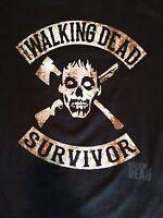 The Walking Dead Survivor Mens T-shirt With Zombie Head