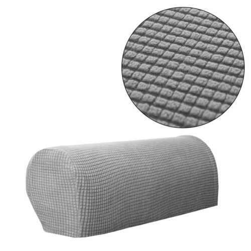 2pcs Furniture Protector Double-Sided Armchairs Sofa Stretchy Armrest Cap Cover