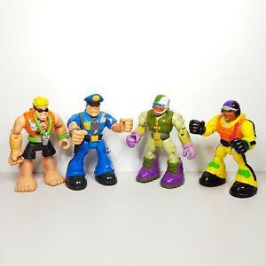 Vintage-Bundle-Bulk-Lot-Of-4-Rescue-Heroes-Figure-Toy-VTG
