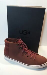68b450eb9eb Details about UGG Australia Men Hoyt Dark Chestnut Waterproof Suede High  Top Sneakers size 7