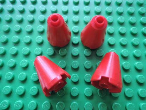 LEGO 4 x Cone Cono 3942c ROSSO 2x2x2