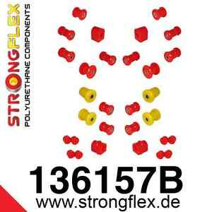 26-teiliger Polyurethan Buchsen Satz für Opel Manta B  StrongFlex 80ShA rot