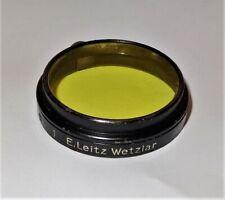 E Leitz Wetzlar Microscope Or Camera Yellow Filter