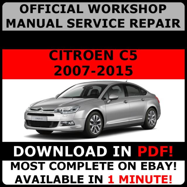 official workshop manual service repair citroen c5 iii 2007 2015 rh ebay com Citroen C1 Citroen C4