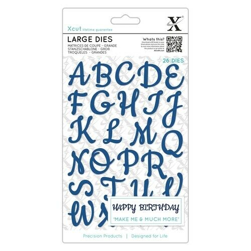 26Stk Handschrift Groß Alphabet Stanzschablone von XCUT XCU 504081