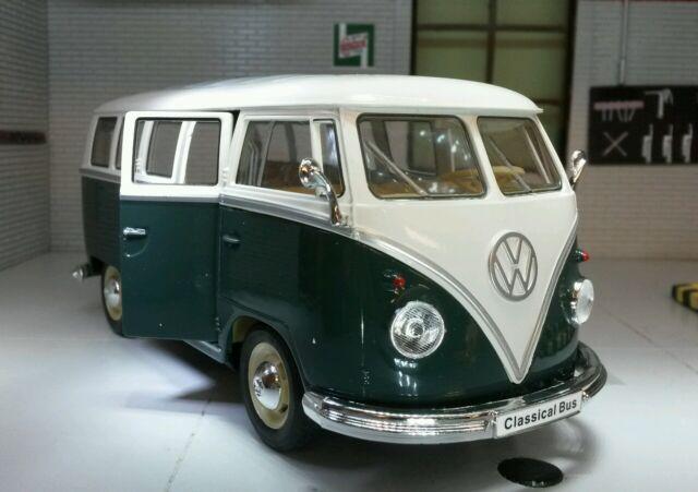 VW Samba T1 1963 Camper Bus Van Welly 1:24 Scale Diecast Detailed Model 22095