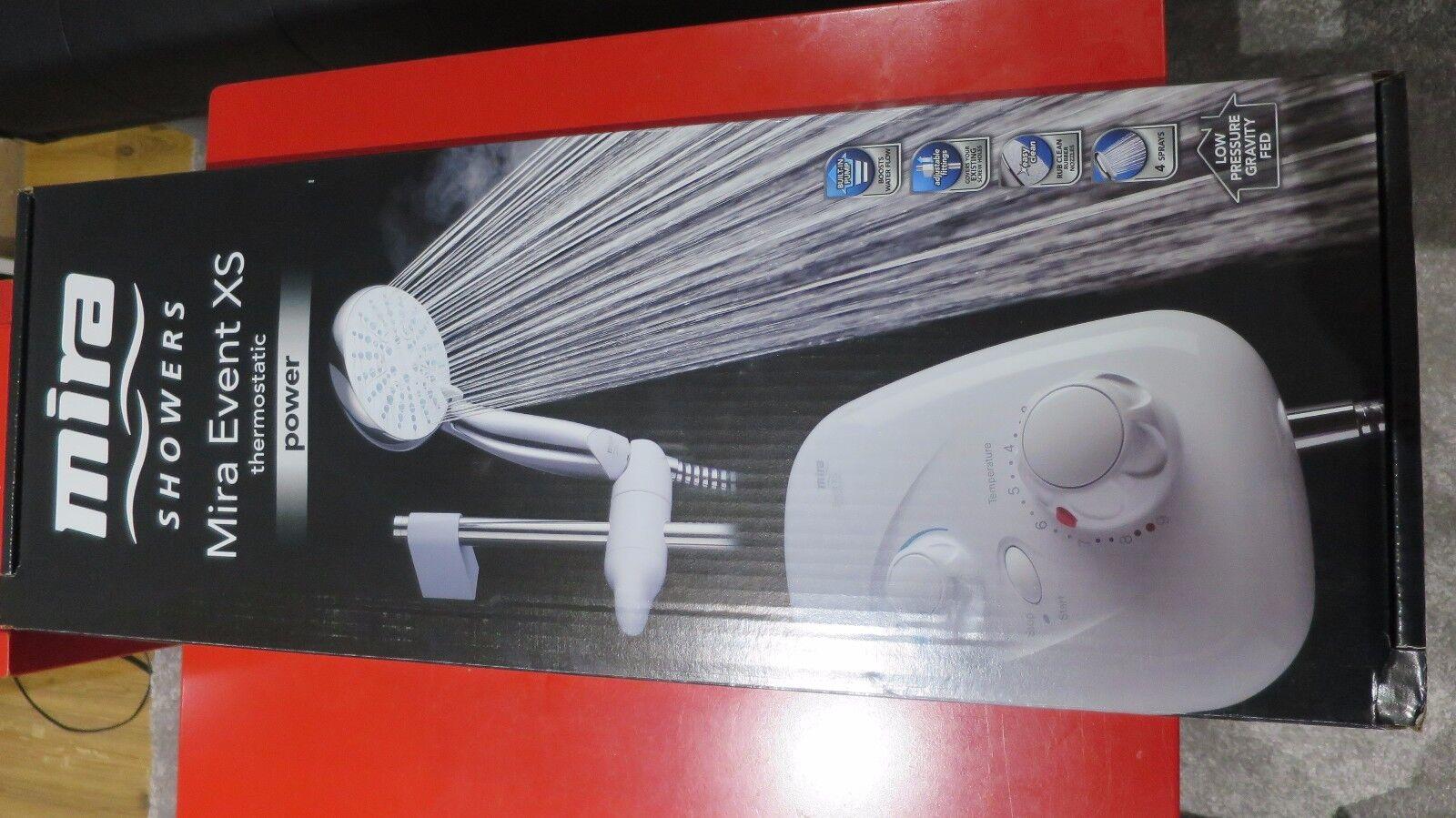 Mira Event XS thermostatique Blanc, Chrome Power Shower 1.1532.400