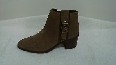Franco Sarto Suede Booties with Buckle Eminent Ebony Suede Size 6 New