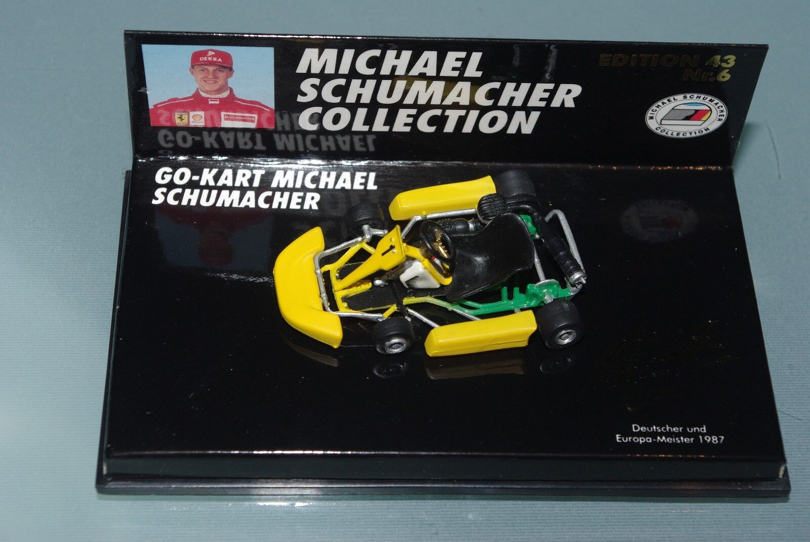 Minichamps F1 1 43 Michael Schumacher Go Kart 1 German & Champion européen 1987