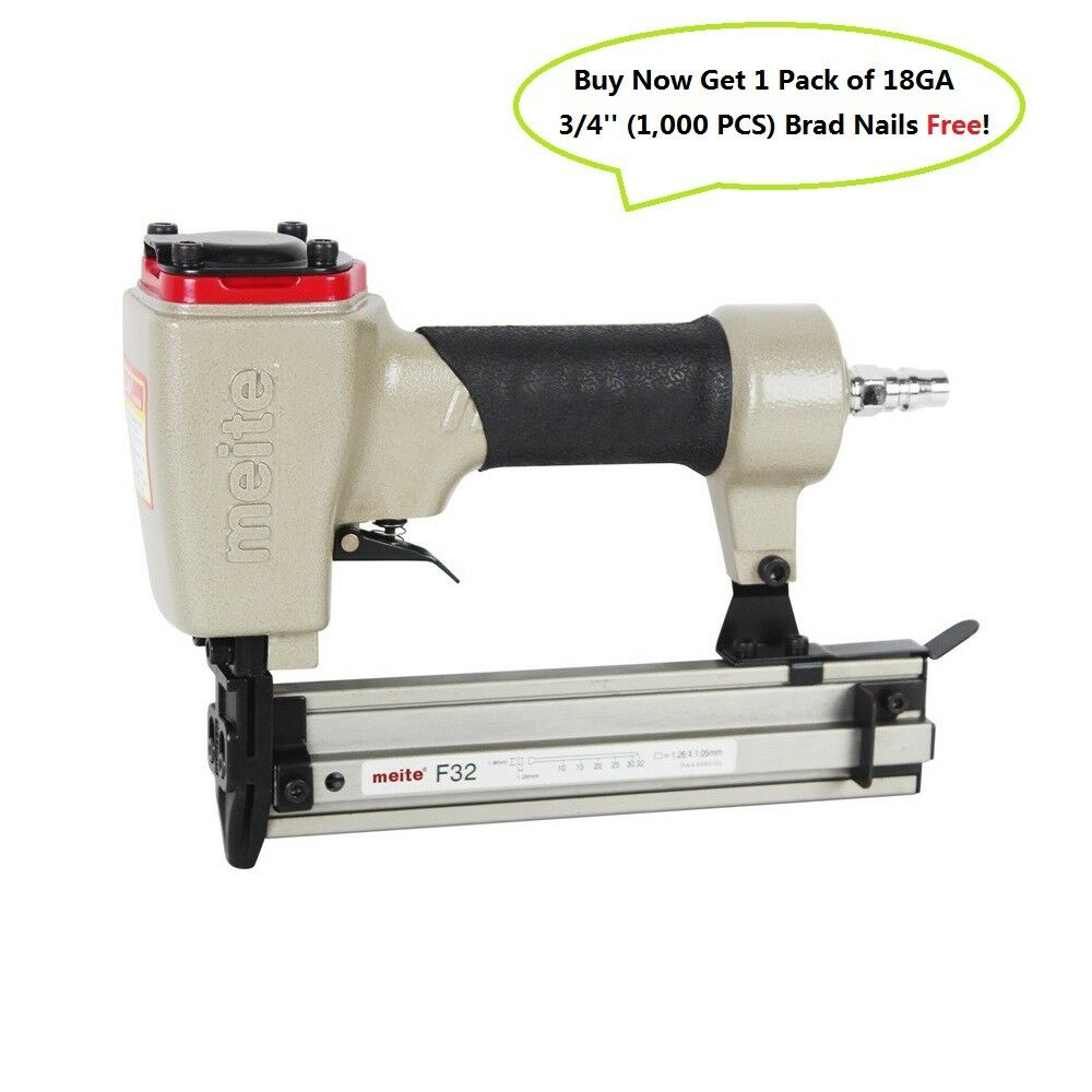 Meite Meite Meite F32 18 Gauge 3/8-Inch to 1-1/4-Inch Air Brad Nailer Power Finish Nailer 9d2f0a