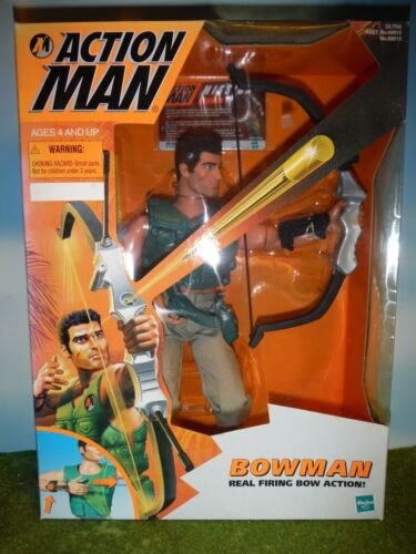"""ACTION MAN BOWMAN w//REAL FIRING BOW ACTION 12/"""" FIGURE"""