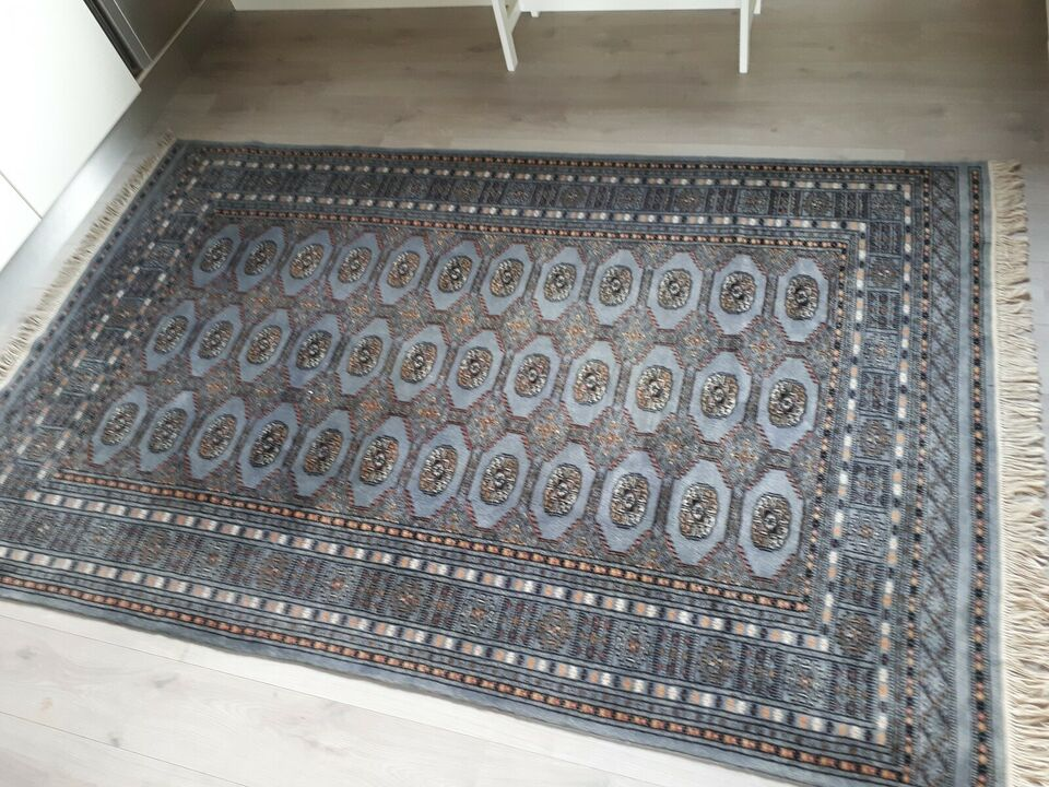 Gulvtæppe, ægte tæppe, 100% Uld