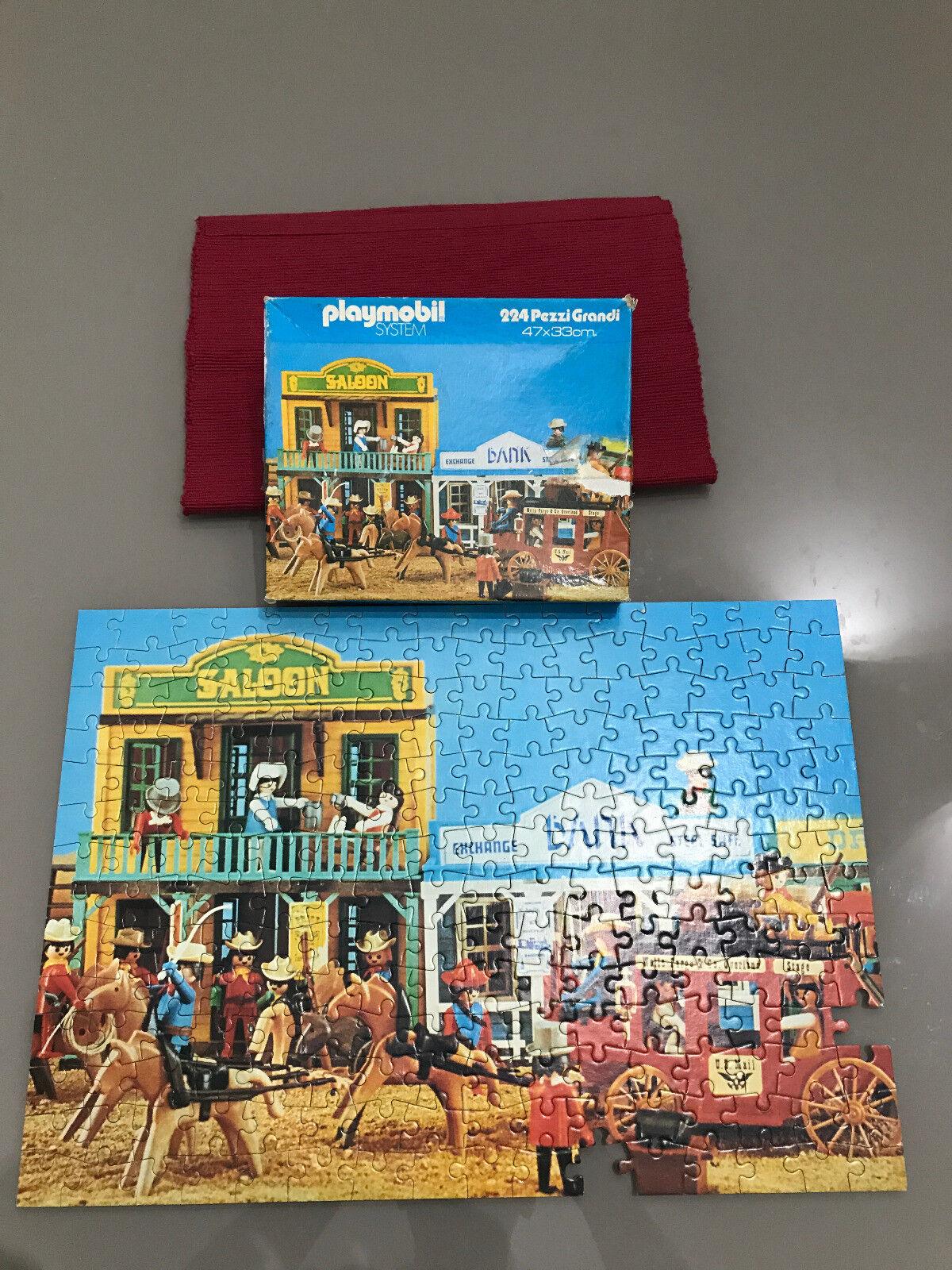 Playmobil System Puzzle GIG 7805 Cowboy 224 pezzi grandi