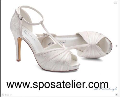 Satin E Anche Comodo Sposa 39 Disponibile Alto Avorio Bianco Colore Tacco Scarpe 6FPqx