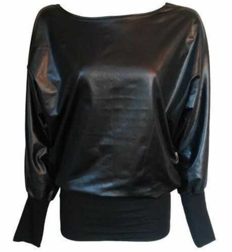 New Top Mini gonna Vestito Pvc aderente Size Plus Leggings Look in pelle Womens Wet fw8qrvf