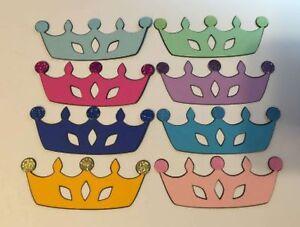 DIE-CUTS-SET-OF-12-PRINCESS-CROWNS-034-You-choose-color-034-Embellishments