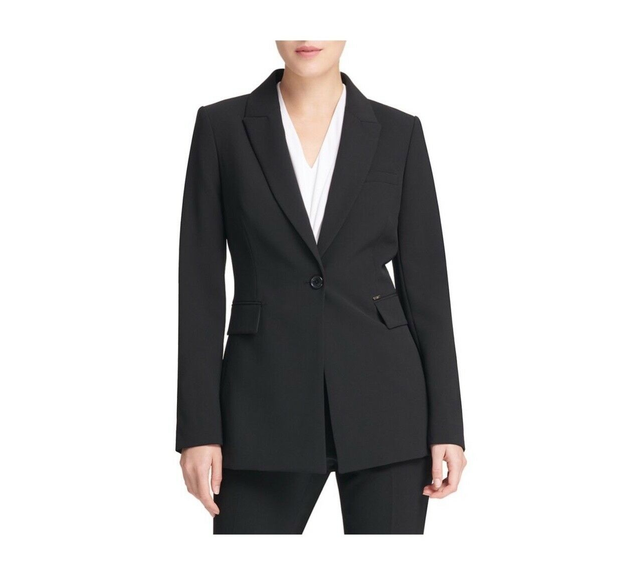 New With Tags   Everyday Classy tailored women karan single-button blazer Size 6