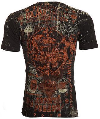 Archaic AFFLICTION Men T-Shirt CHUPACABRA Skull Beast Tattoo Biker UFC M-4XL $40