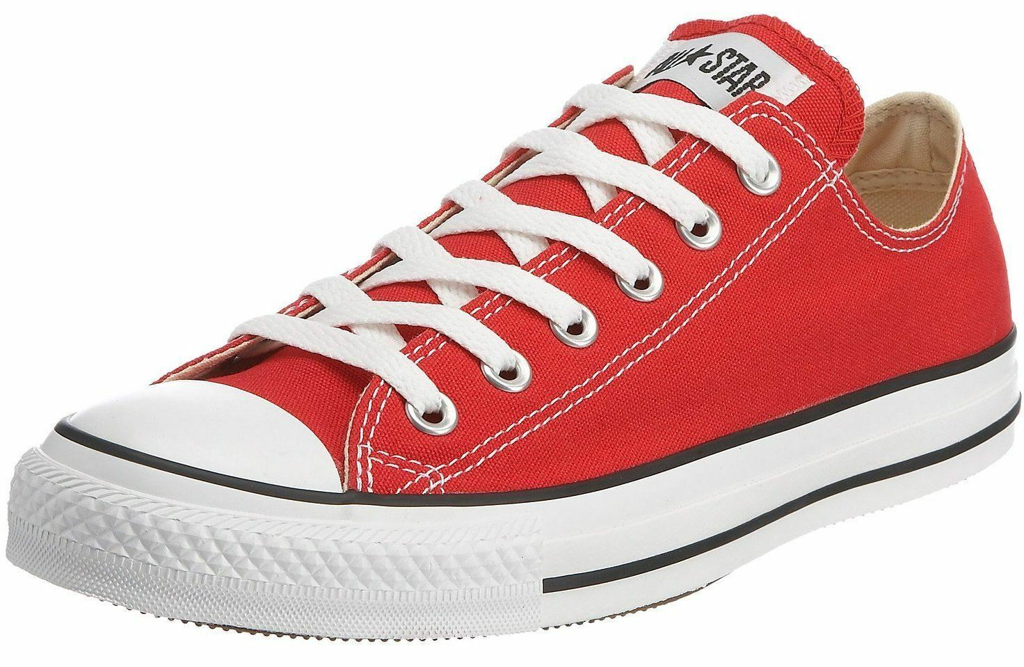 Converse Chuck Taylor All Star ROT WEISS Lo Unisex Trainers Stiefel