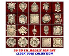 "20 PCs 3d STL Models - ""CLOCK COLLECTION"" for CNC relief artcam vectric aspire"