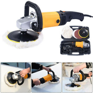 7-034-6-Variable-Speed-Car-Electric-Polisher-Buffer-Waxer-Sander-Detail-Boat-w-Case