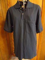 Mens Small Reg Scandia Woods Ss Navy Polo Golf Shirt One Pocket