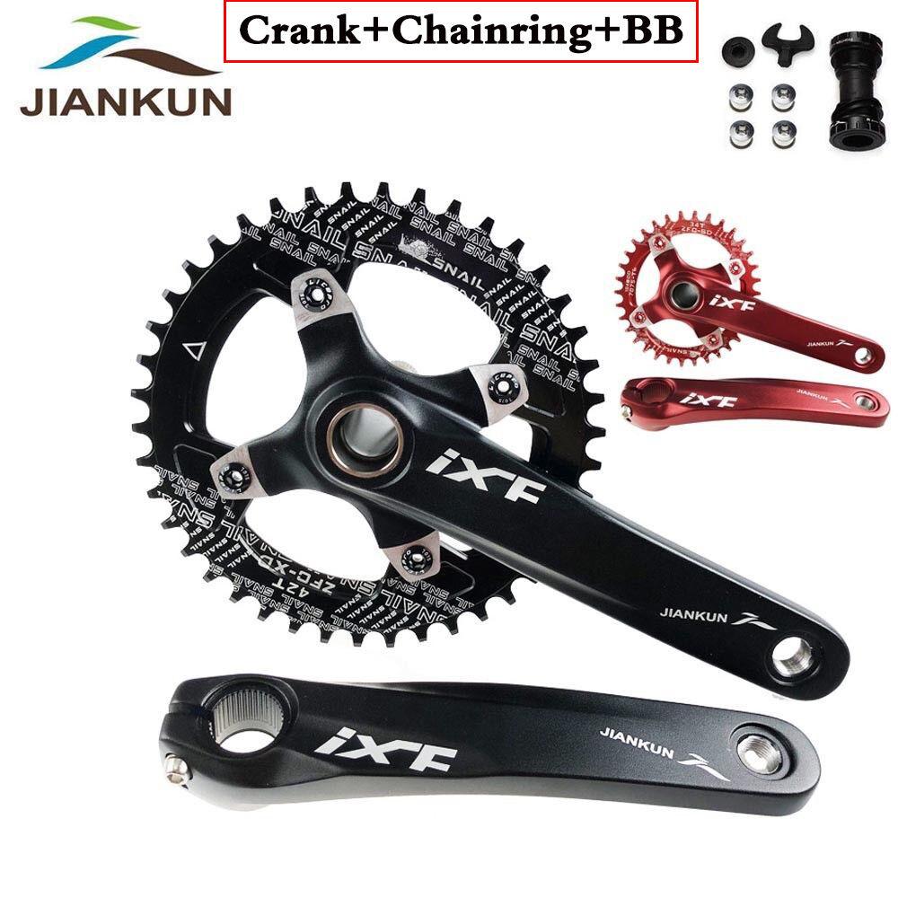 UK IXF 104bcd MTB Road Bike Crankset 170mm Crank Arm BB Narrow Wide Chainring