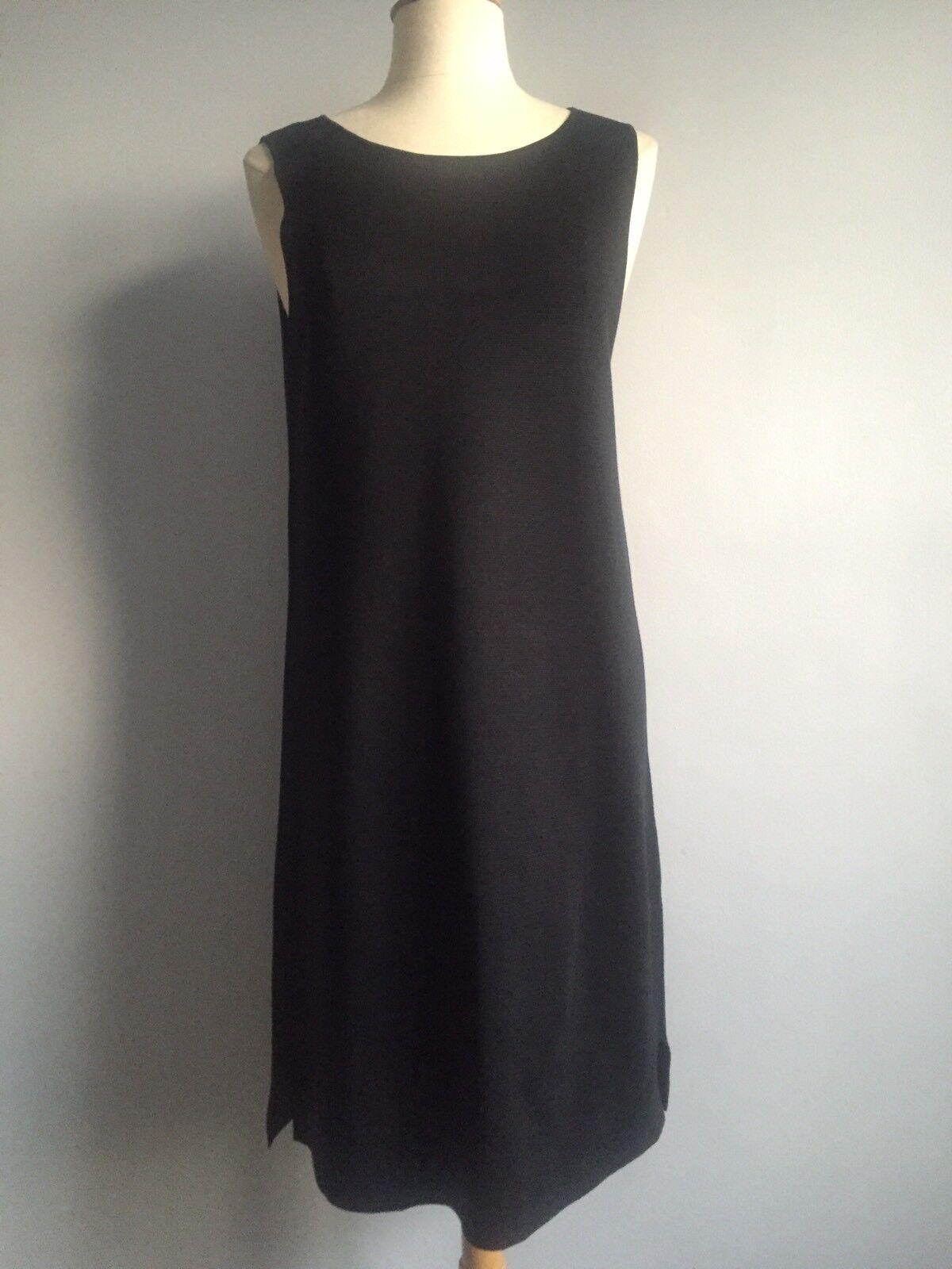 Nuevo Con Etiquetas   338 Eileen Fisher Negro Seda vestido sin mangas de punto de algodón orgánico talla M  descuento
