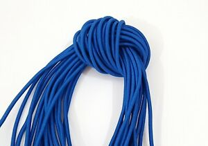 """5 meter of 3/""""mm black round elastic drawstring cord super stretch sewing,crafts"""