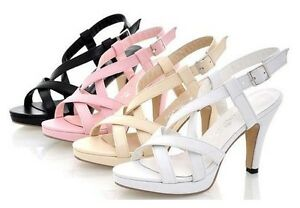 Women-039-s-Low-Heel-Summer-Strappy-Sandals-Womens-Shoes-CC626