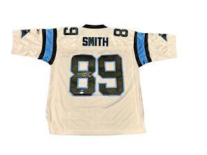 Steve Smith Signed Carolina Panthers (AWAY WHITE) Jersey JSA | eBay
