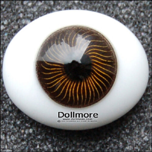 Brown Dollmore BJD NEW 10mm Paperweight Glass Eyes-Oval Type