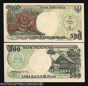 128f INDONESIA 1992//1997 UNC 500 Rupiah Banknote Paper Money Bill P