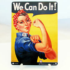 WE CAN DO IT ROSIE THE RIVETER Poster Print On Metal Sign Plaque WW2 PROPAGANDA