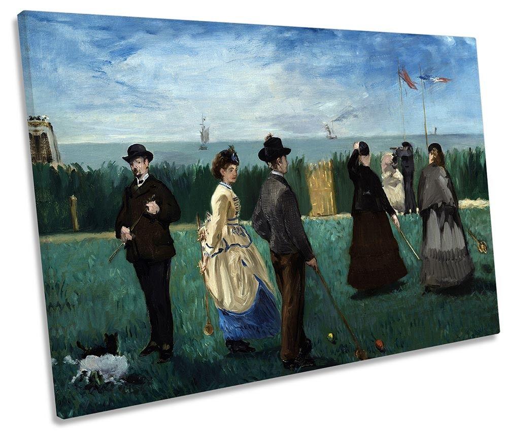 Edouard Manet Croquet en Boulogne LONA parojo arte impresión impresión impresión de foto única 2b9113