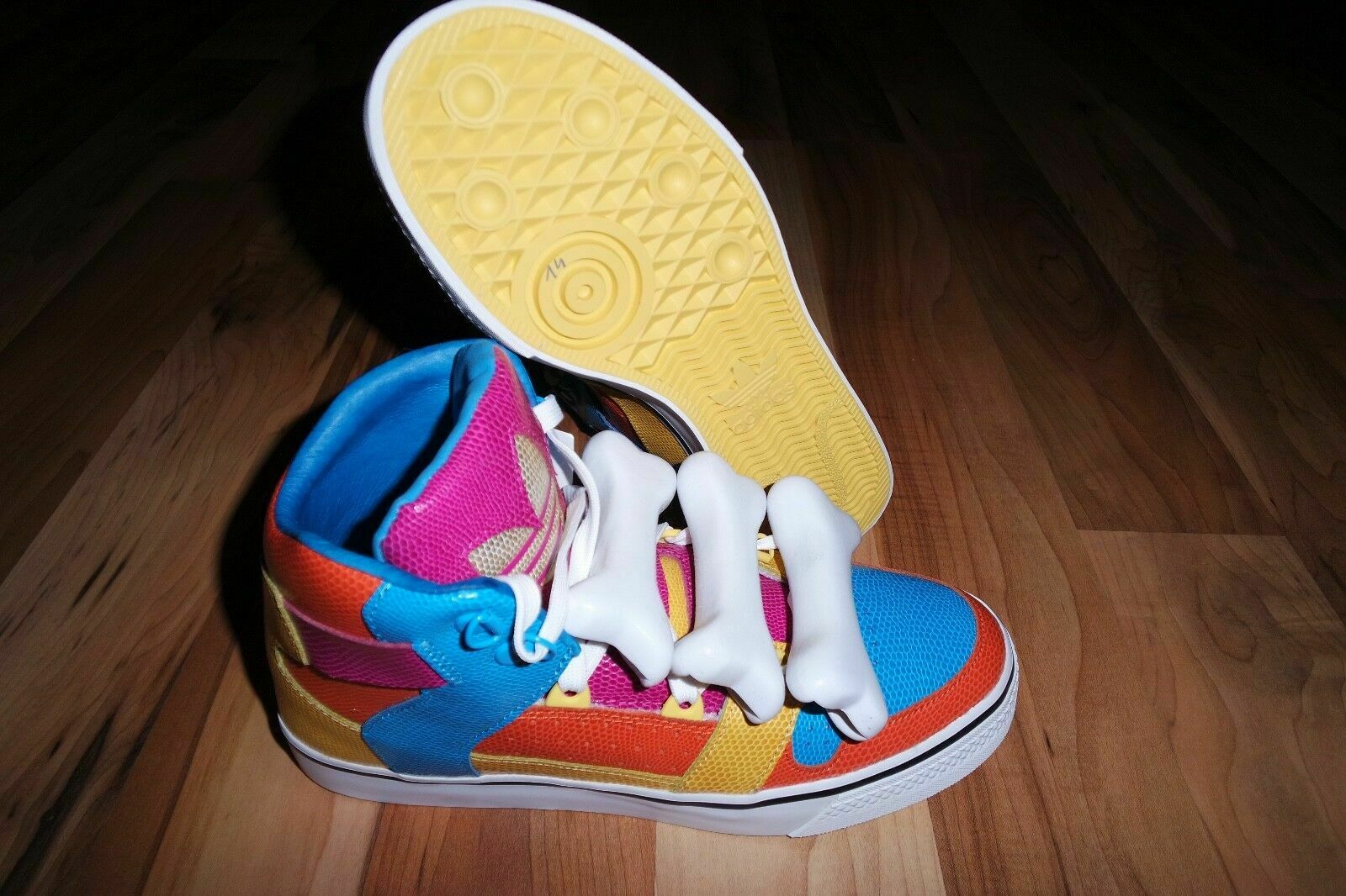 Adidas ObyO X JEREMY SCOTT JS BONES MULTICOLOR SHOES UNISEX US 6.5  3