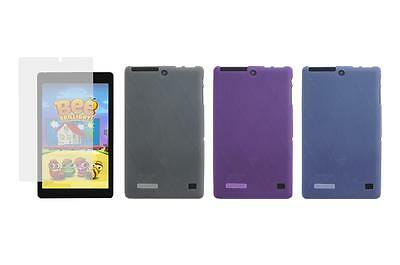 TPU Gel Skin Cover Case Screen Protector for Nextbook Ares 8L NXA8LTE116