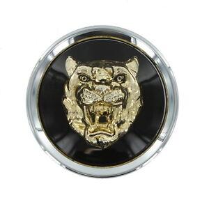 jaguar wheel badge center cap black with gold growler mna6249fa oem ebay. Black Bedroom Furniture Sets. Home Design Ideas