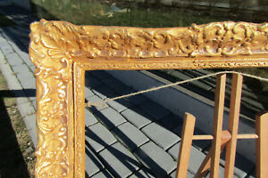 FRENCH ITALIAN BAROQUE ROCOCO  DEEP CORE GILDED FRAME FOR PAINTING 20x16 inch