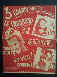 Lot-Vieux-Papiers-Chansons-Photos-Textes-Originaux