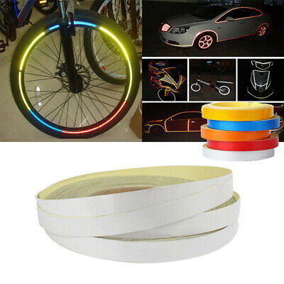 Reflective Car Motorcycle Rim Stripe Tapes Sticker Adhesive Roller DIY Decals