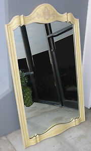 TALL-Vtg-JOHN-WIDDICOMB-French-Country-Cottage-Wall-Mantle-MIRROR-Italian-Yellow