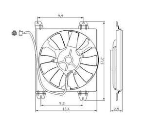 A/C Condenser Fan Assembly For 2007-2009 Honda CRV 2008 TYC 610820
