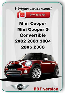 mini cooper cooper s convertible 2002 2003 2004 2005 2006. Black Bedroom Furniture Sets. Home Design Ideas