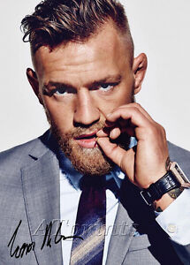 CONOR-MCGREGOR-SIGNED-PRINT-POSTER-PHOTO-UFC-MENDES-197-197-189