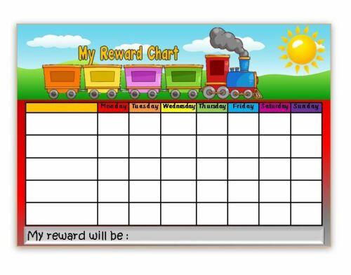 behaviour-chores-goals TRAIN FREE pen//stickers potty Reward Chart