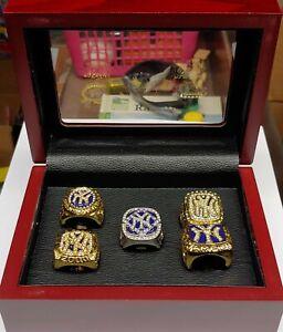 New York Yankees - 5 World Series Ring Set With Wooden Display Box. Derek Jeter