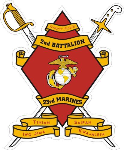 USMC Marine Corps 2nd Battalion 23rd Marine Regiment Decal Sticker